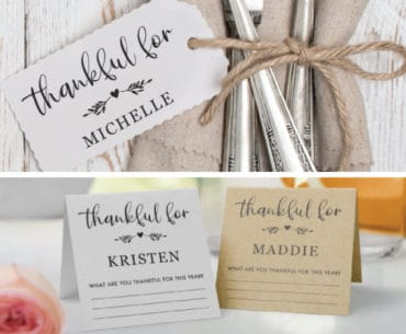 free thanksgiving place cards 2 designs