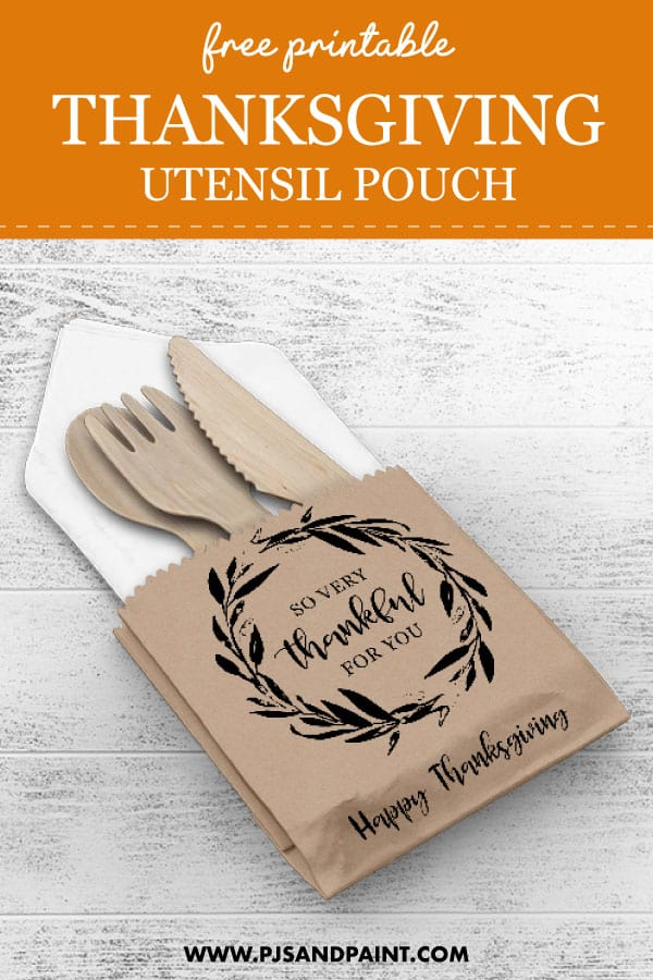 thanksgiving utensil pouch pinterest
