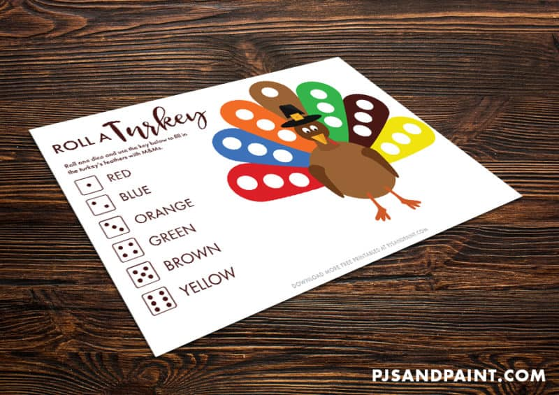 roll a turkey mockup