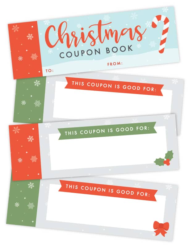 christmas coupon book printable