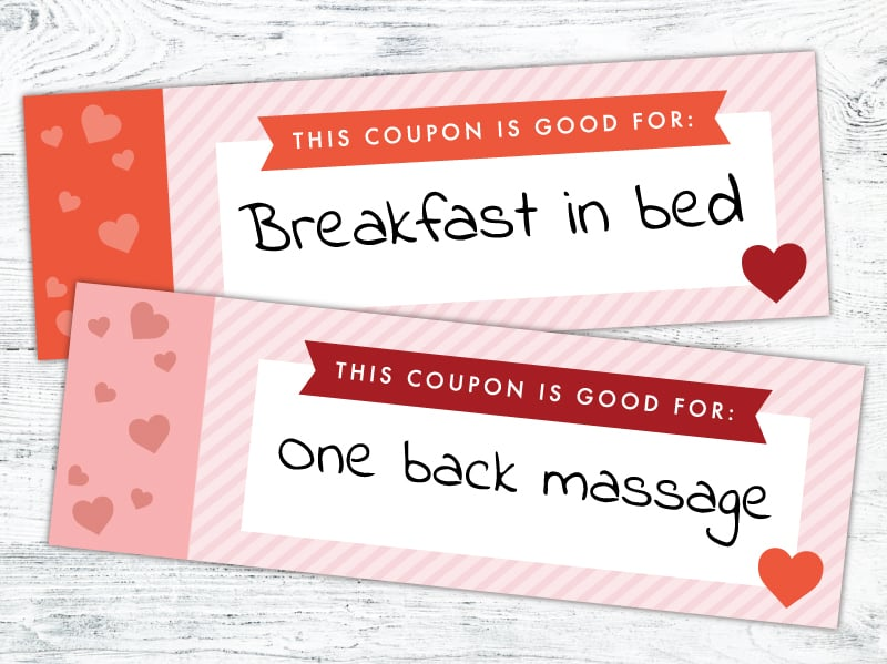 coupon book filled out
