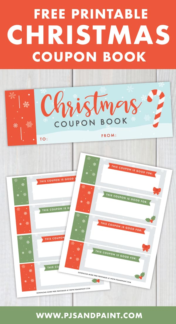 free printable christmas coupon book pinterest