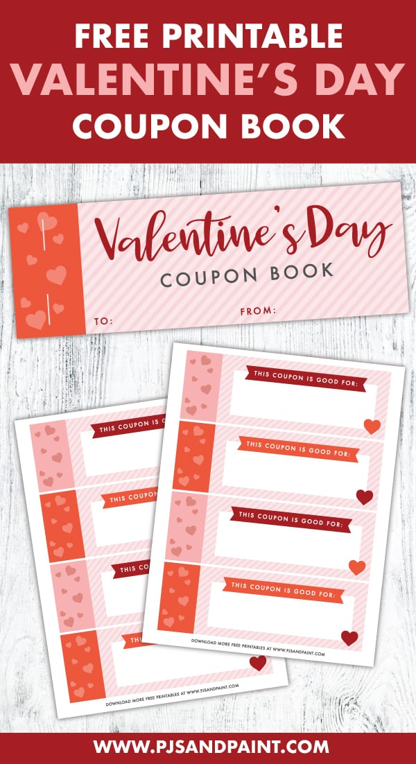 free printable valentines day coupon book pinterest