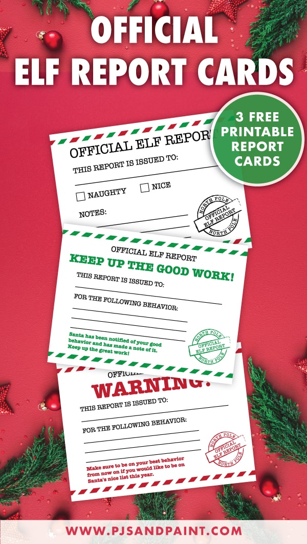 official elf report cards pinterest