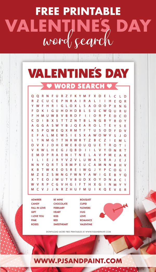 valentines word search pinterest