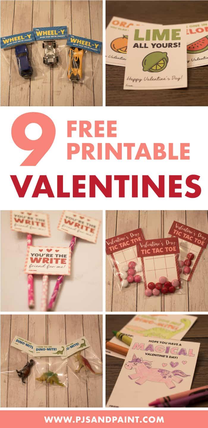 9 free printable valentines pinterest