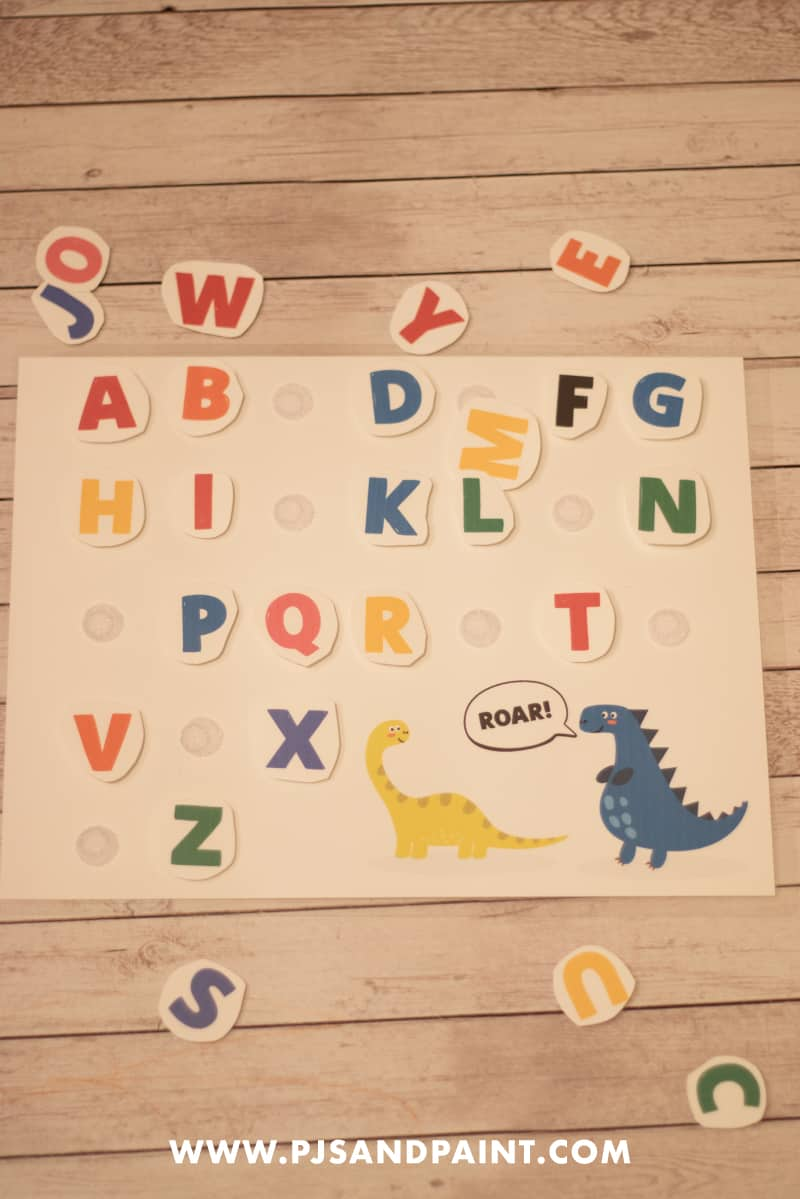 alphabet velcro board