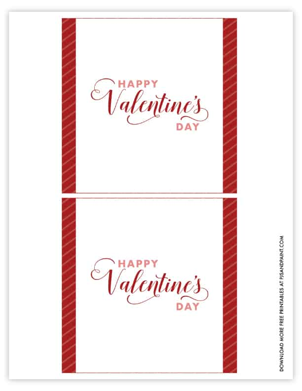 candy bar wrapper valentines day