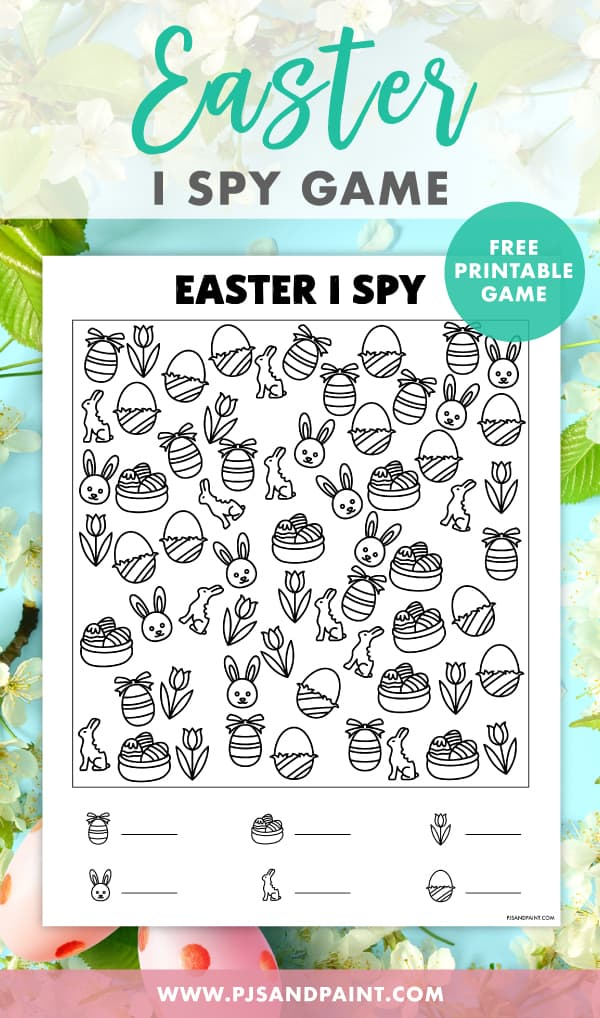 easter i spy game pinterest
