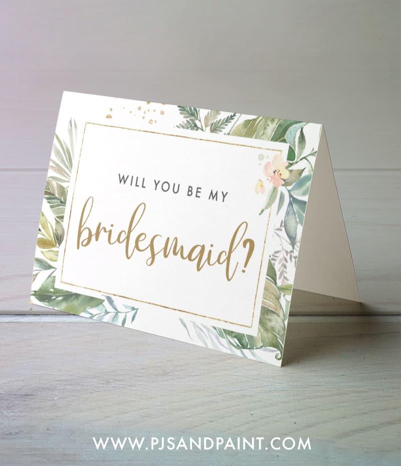 floral bridesmaid cards