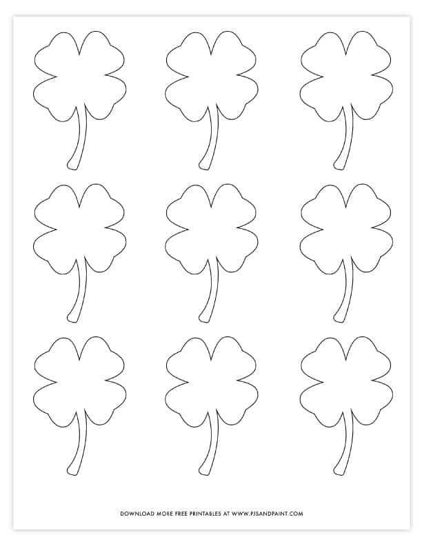 It's just an image of Challenger Shamrock Template Printable Free