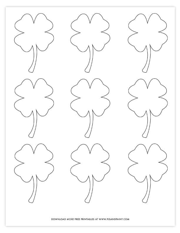 Four Leaf Clover Template - Free Printable Shamrock Template