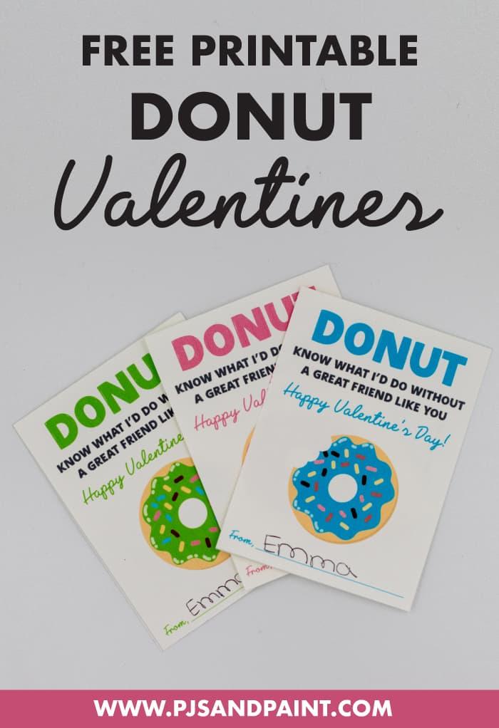 free printable donut valentines for kids