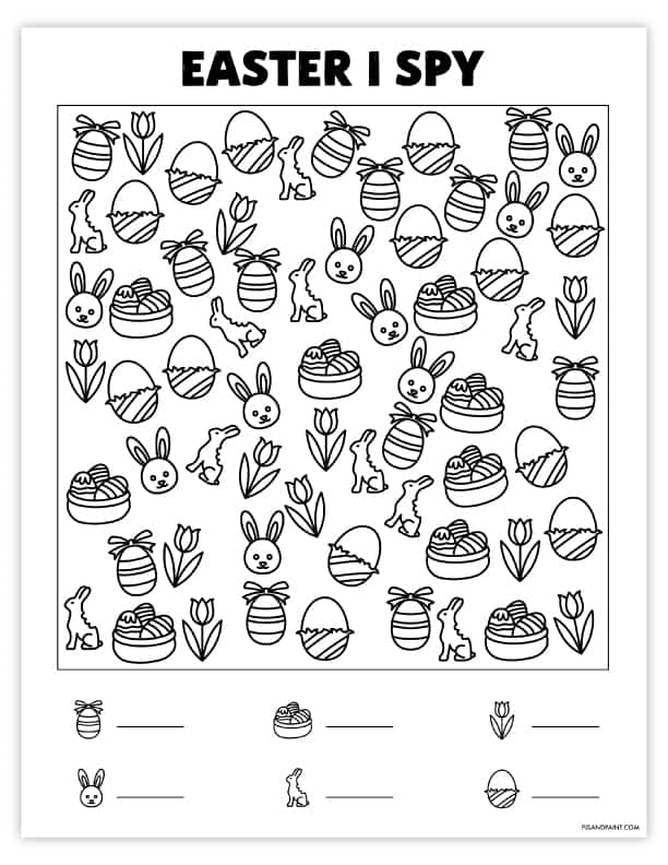 free printable easter i spy