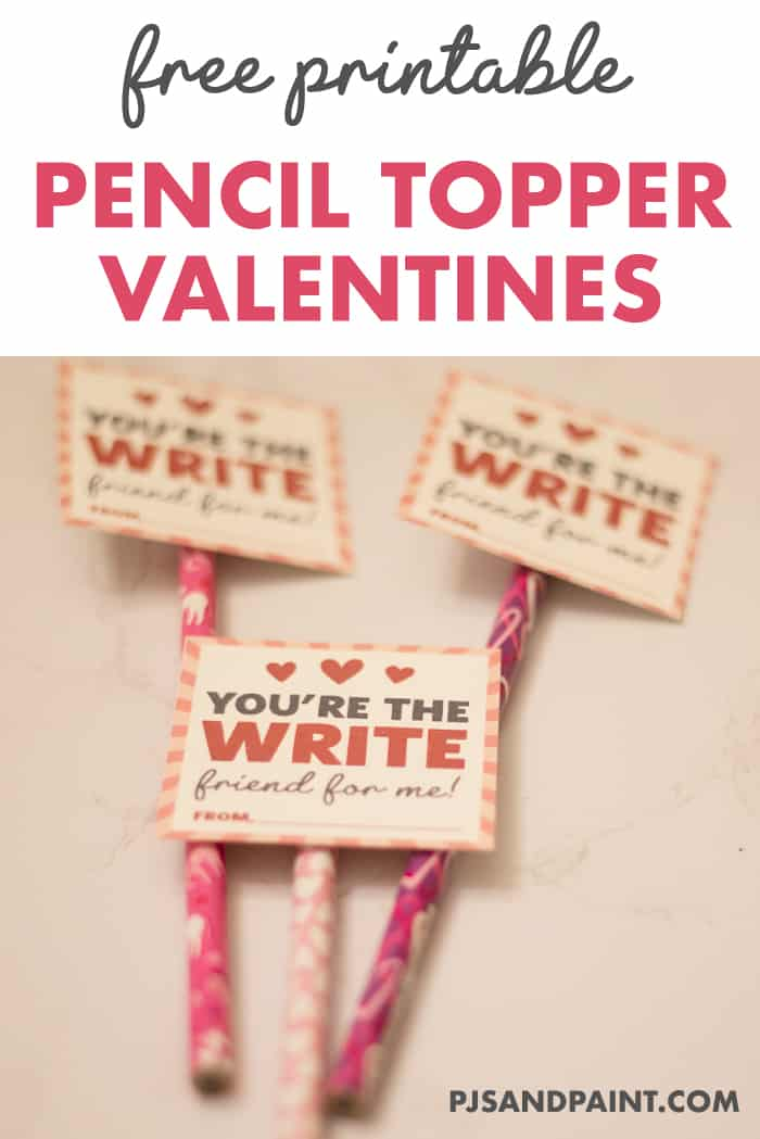 free printable pencil topper valentines