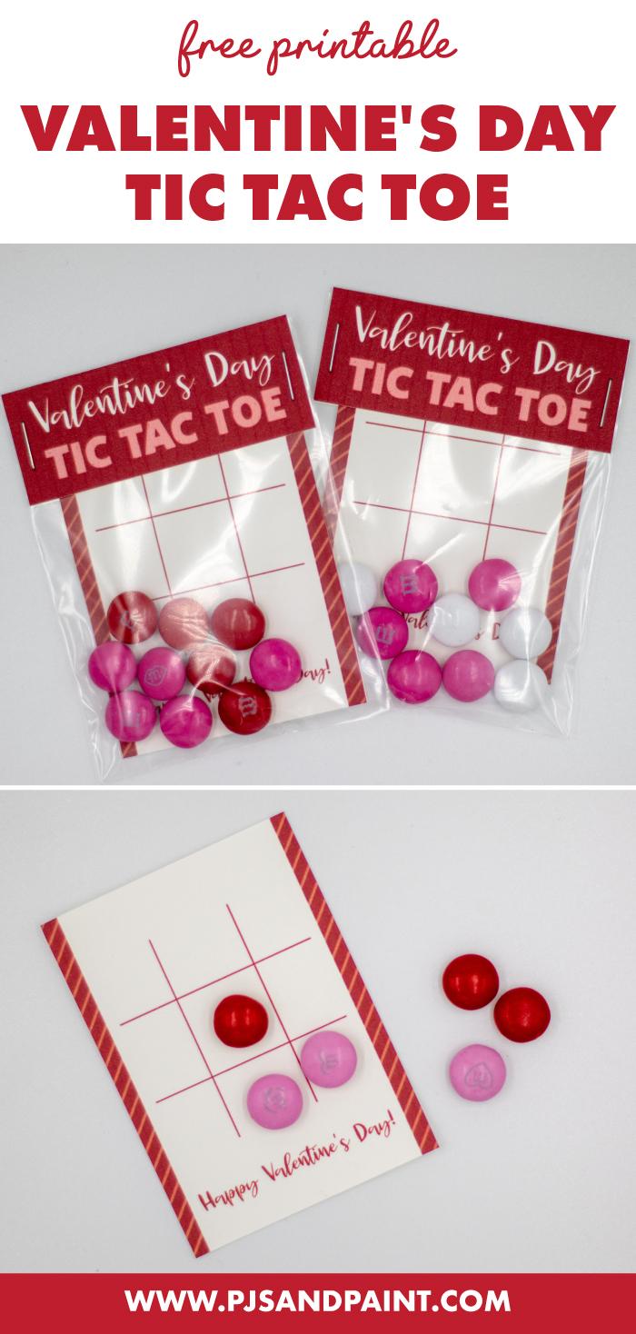 free printable valentines day tic tac toe pinterest