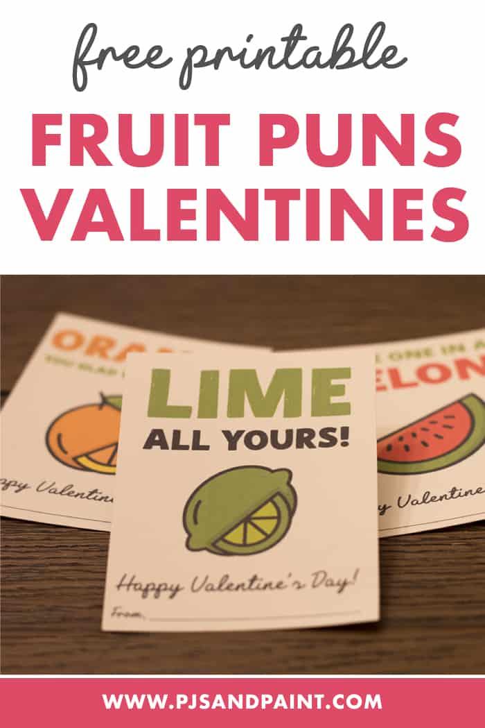 fruit puns valentines