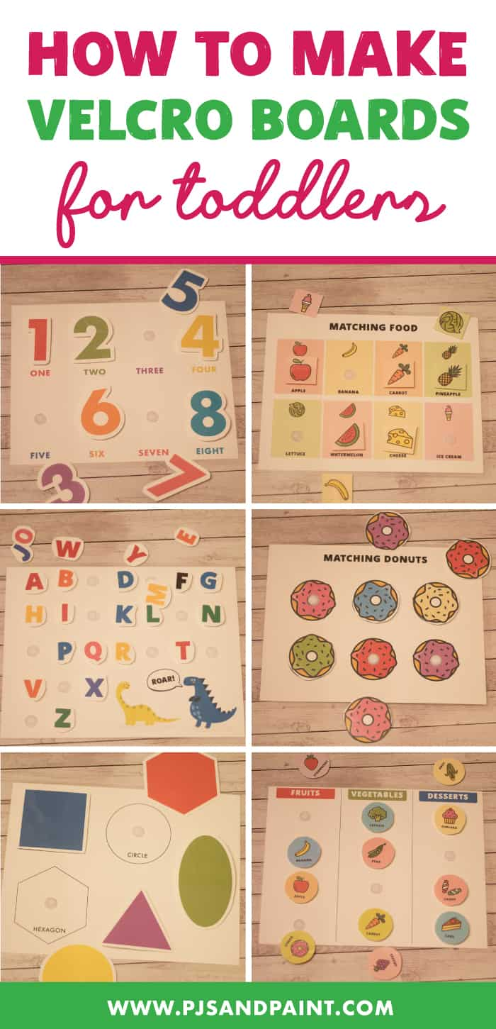 how to make velcro boards for toddlers