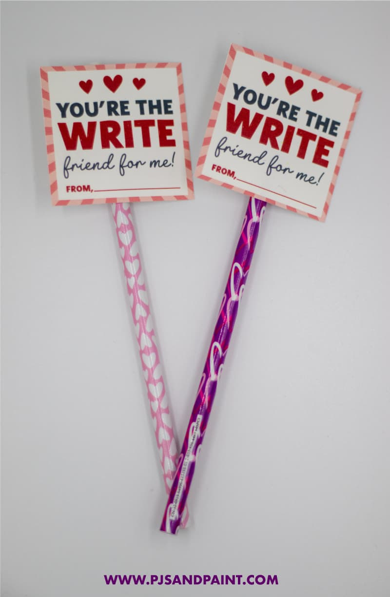 pencil topper valentines