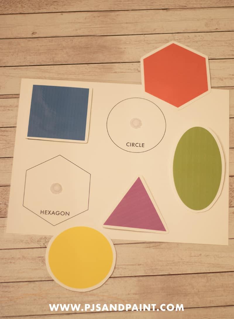 shapes velcro board