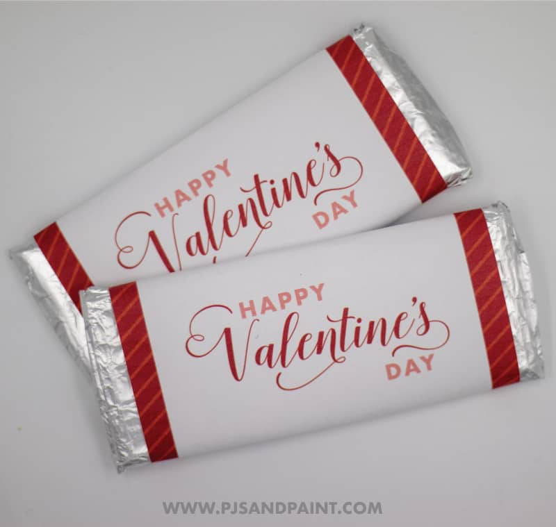 valentines day candy bar wrappers