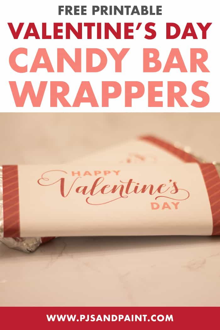 valentines day candy bar wrapper