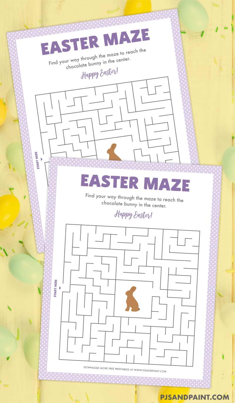 bunny easter maze