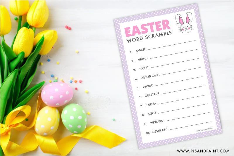 bunny easter word scramble