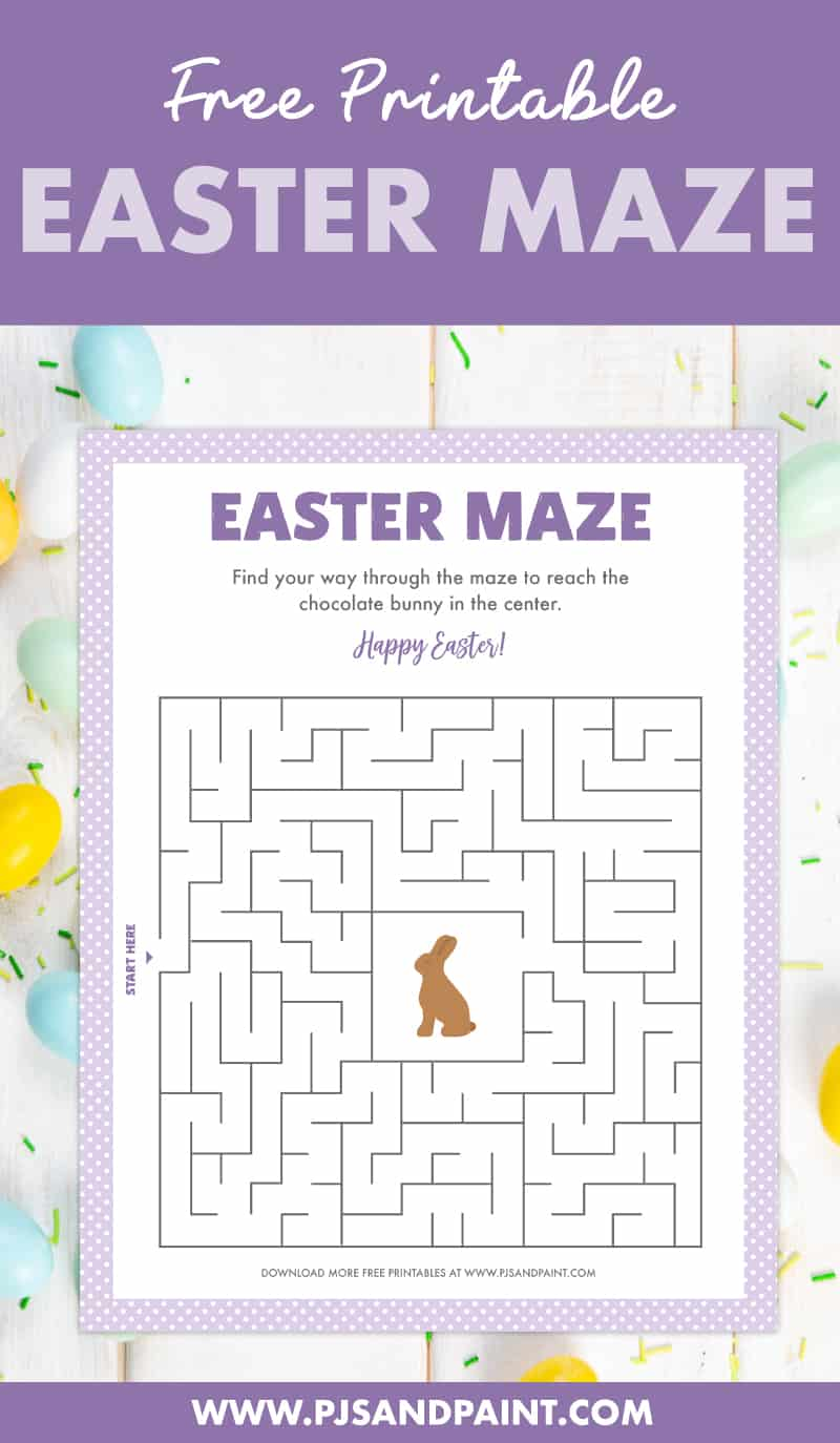 free printable easter maze pinterest