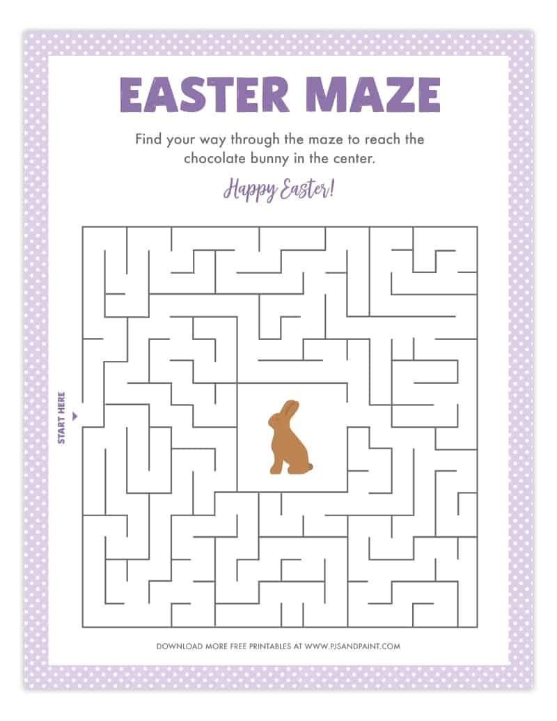 free printable easter maze