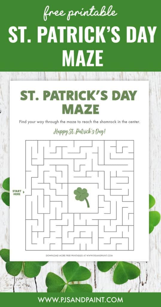 free printable st patricks day maze pinterest