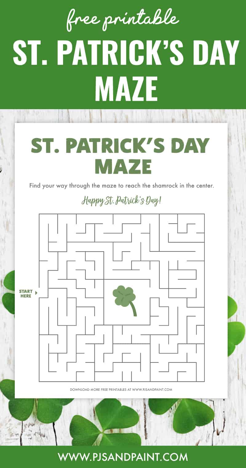 free printable st patricks day maze pinterest