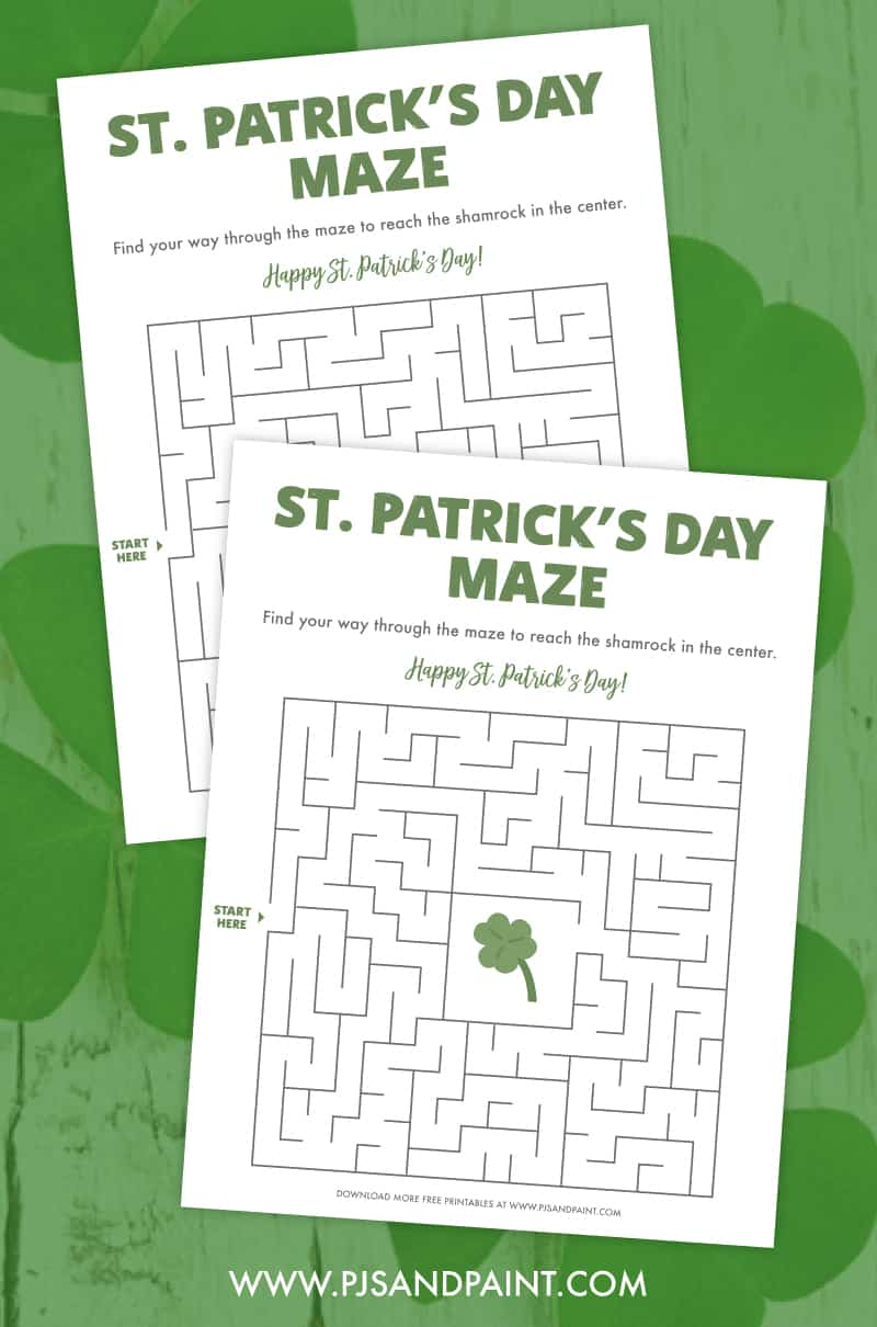 st patricks day maze printable