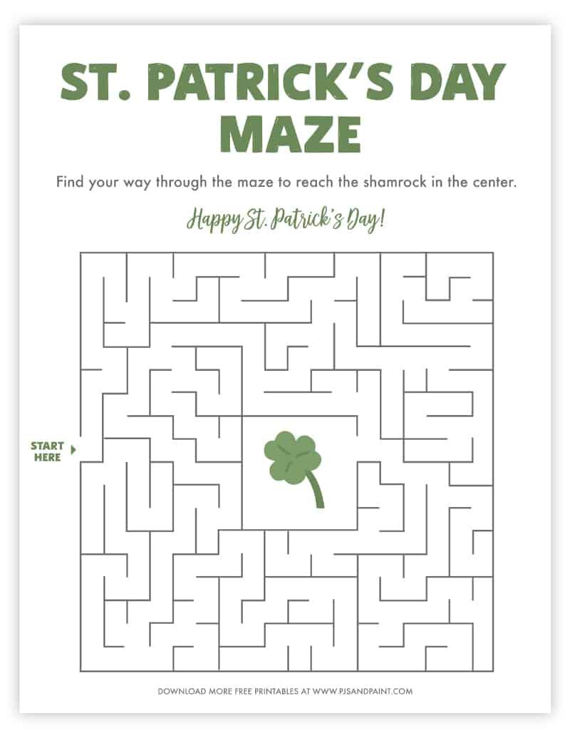 st patricks day maze
