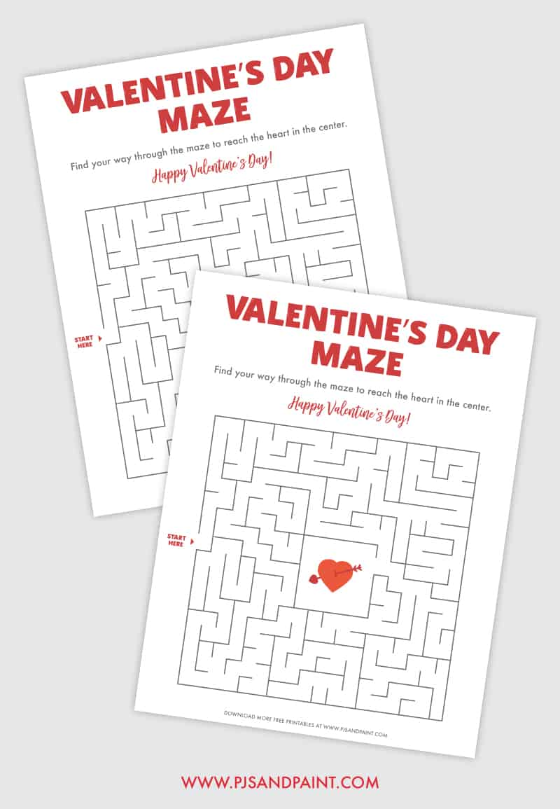 valentines day maze mockup