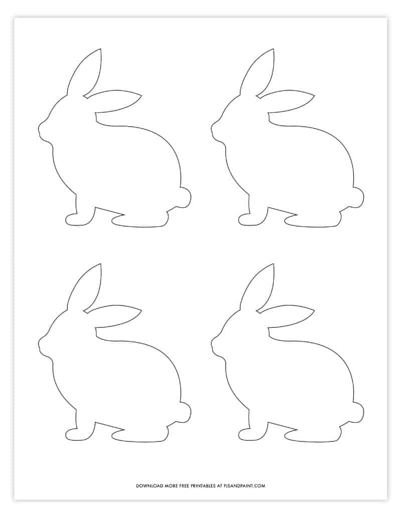 This is a picture of Easter Bunny Templates Printable Free with regard to rabbit