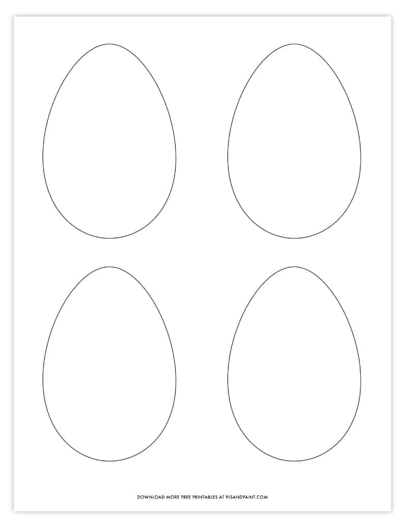 small easter egg template
