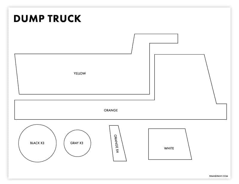 dump truck template