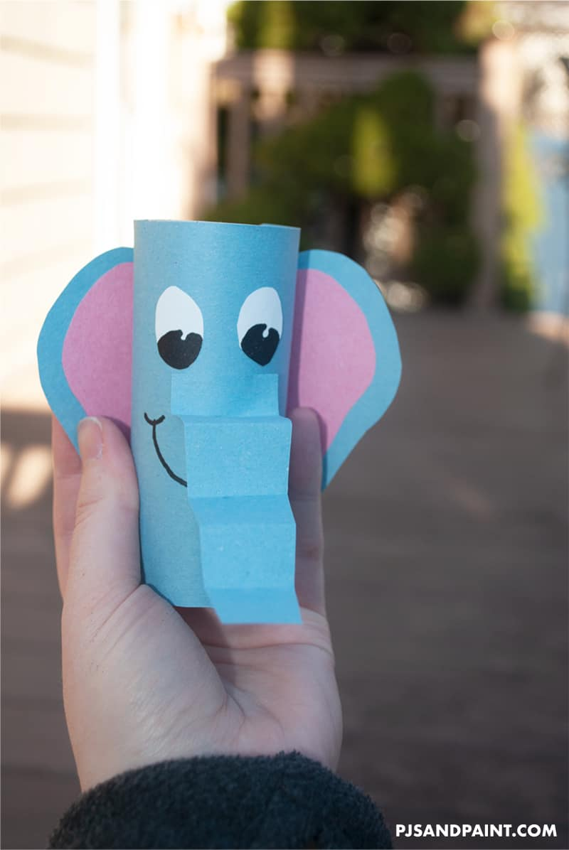 elephant in hand