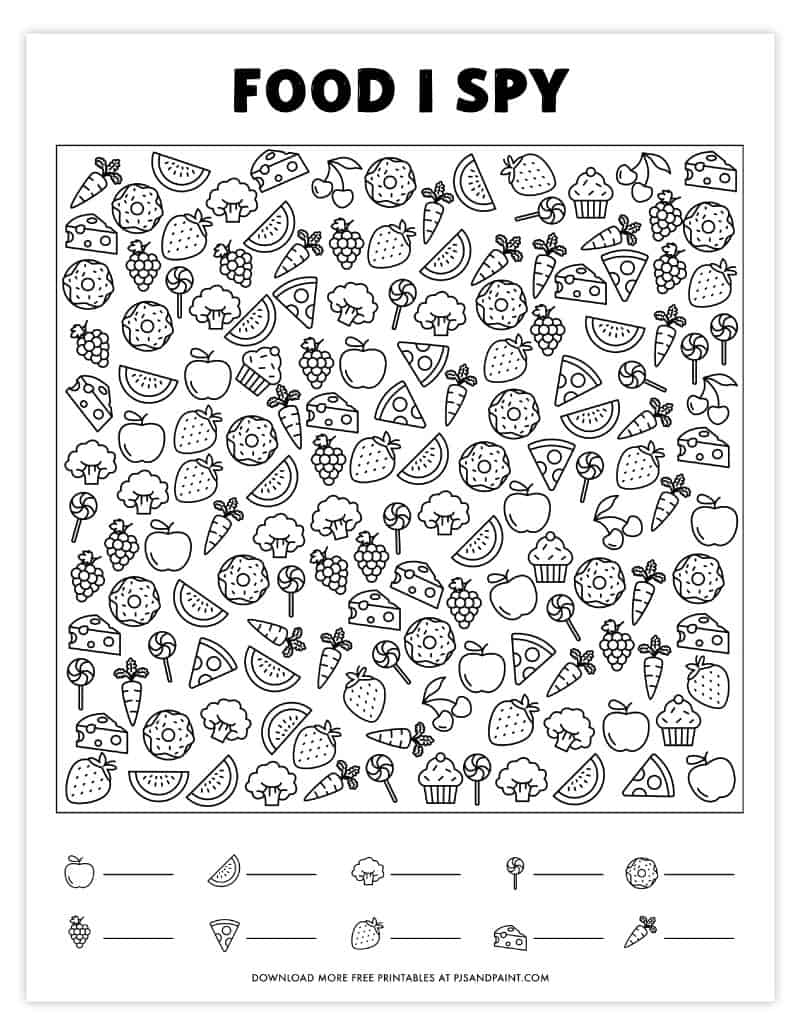 It's just a graphic of Ambitious I Spy Printables