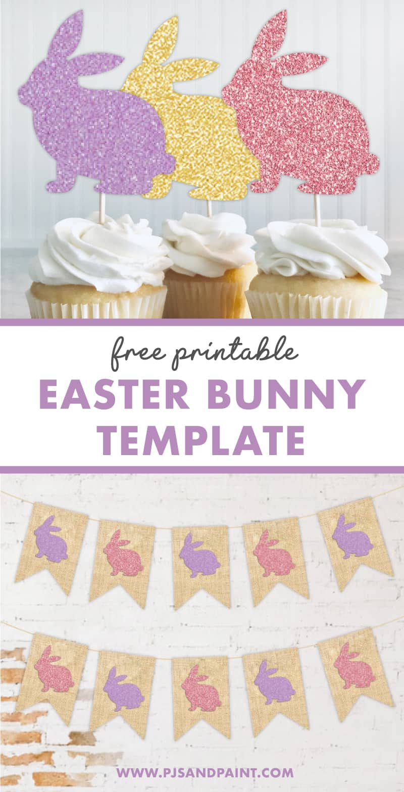free easter bunny template pinterest