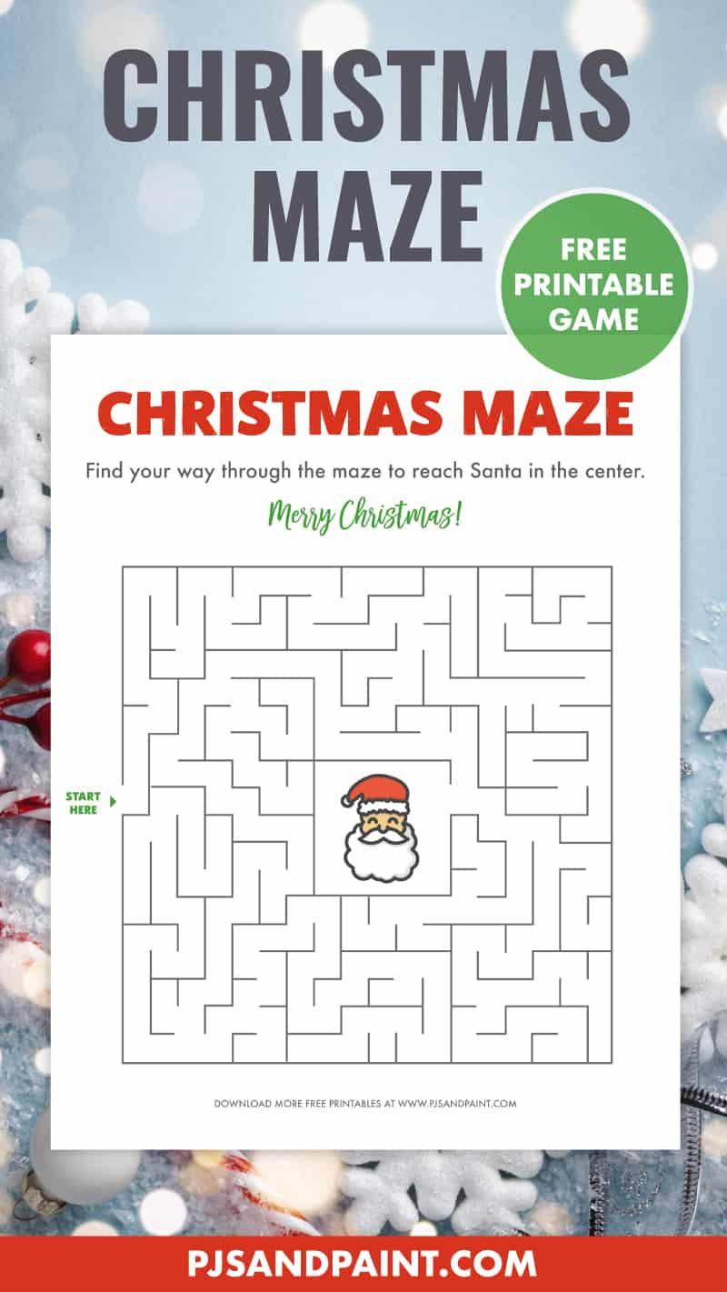 free printable christmas maze