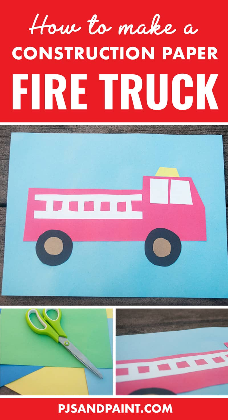 how to make a construction paper fire truck