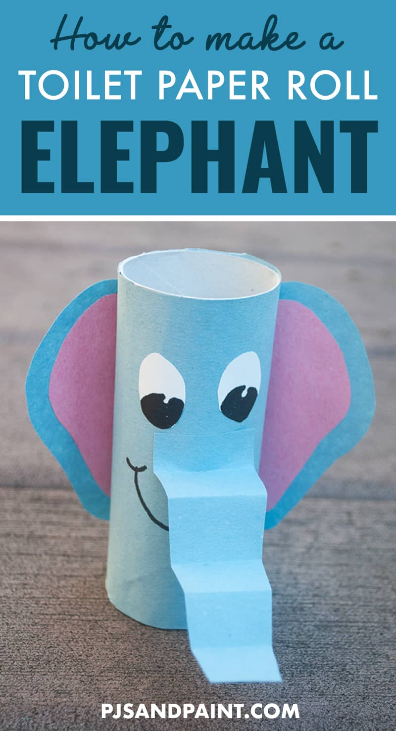 how to make a toilet paper roll elephant