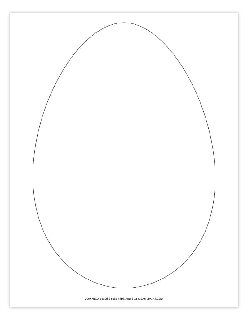 large easter egg template blank