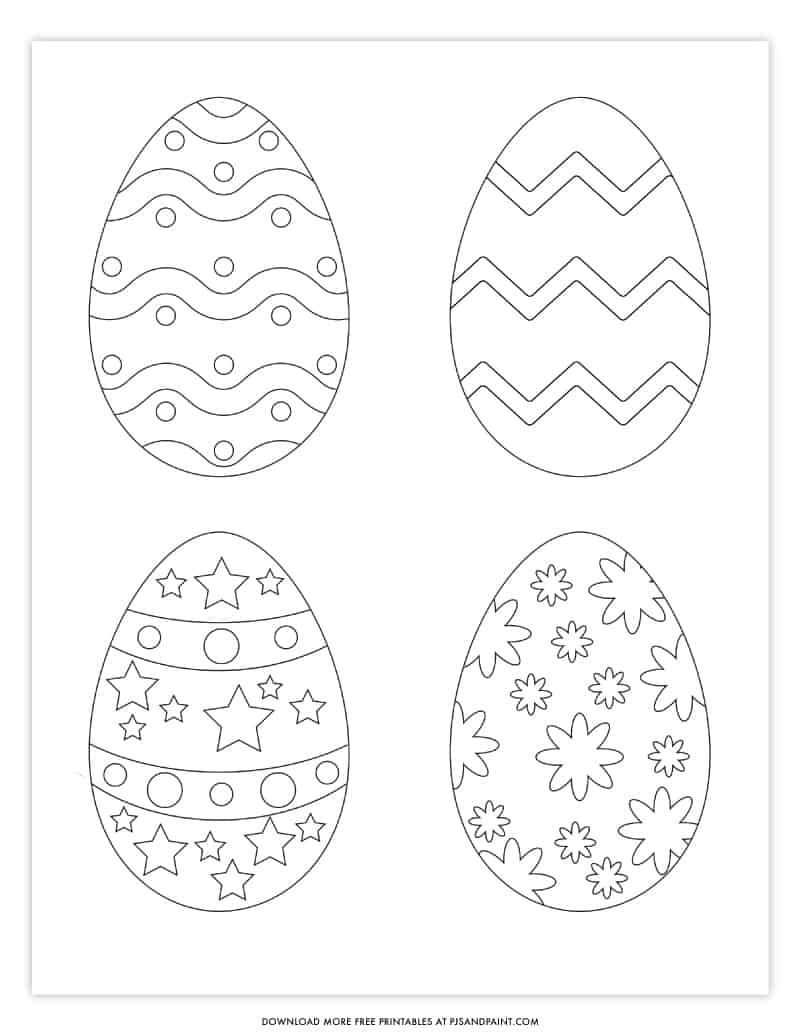 mini easter egg coloring page
