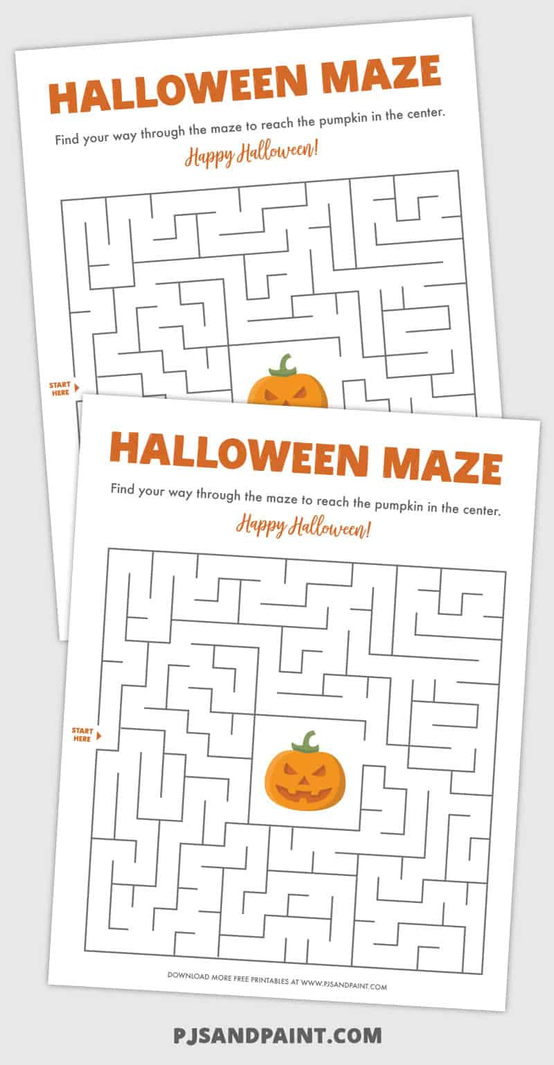 printable halloween maze