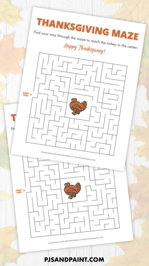 Free Printable Thanksgiving Maze - Thanksgiving Games and ...