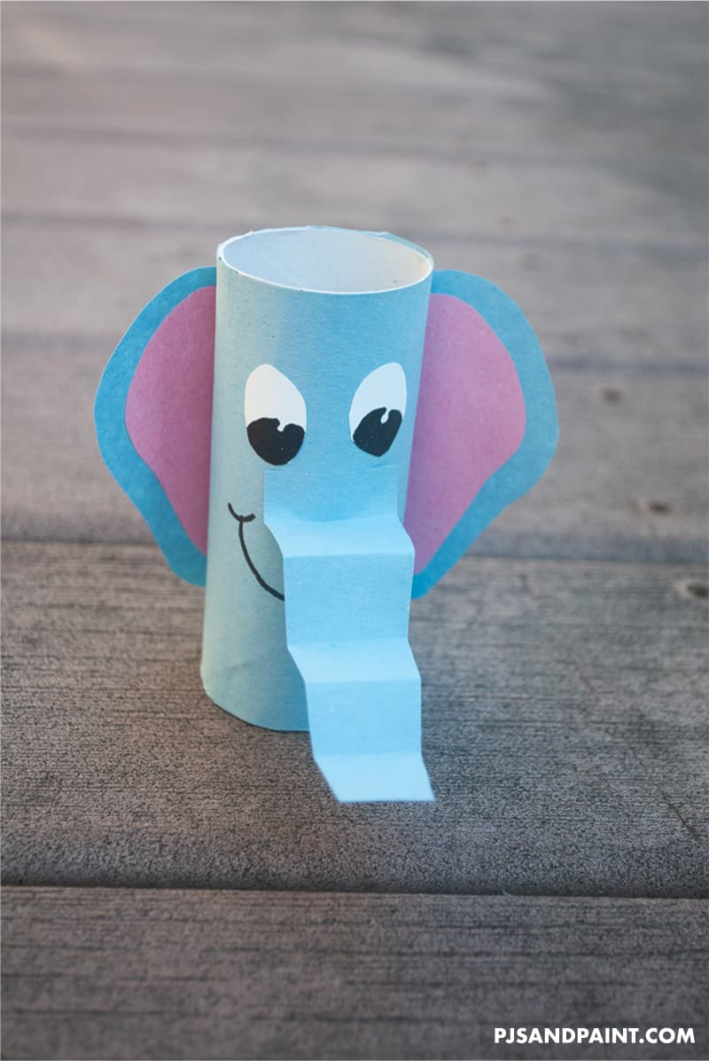 toilet paper roll elephant