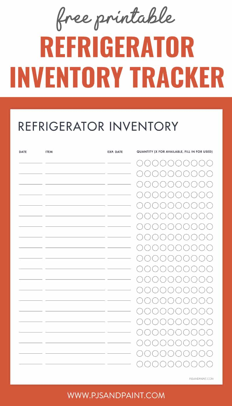 refrigerator inventory tracker pinterest